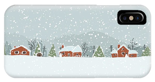 Small iPhone Case - Winter Background With A Peaceful by Artem Musaev