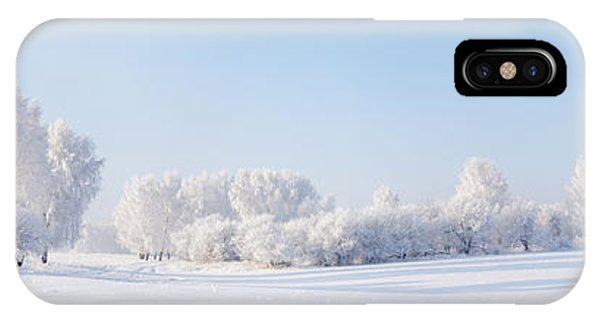 Winter Beautiful Landscape With Trees Phone Case by Alex po