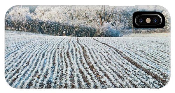 Winter Field, Little Rissington, Gloucestershire Phone Case by David Ross