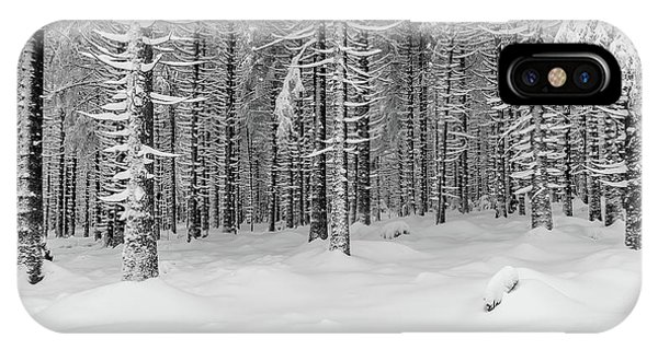 winter forest, Harz IPhone Case