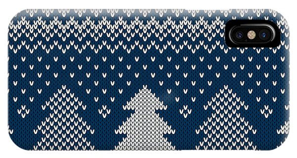 Fair iPhone Case - Winter Holiday Seamless Knitted Pattern by Atelier agonda