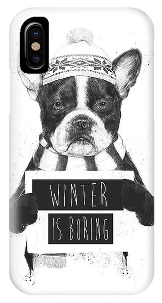 Winter iPhone Case - Winter Is Boring by Balazs Solti