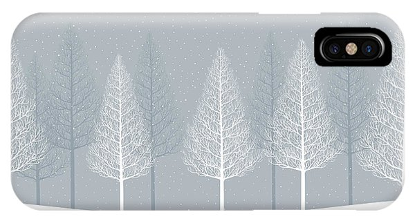 Treeline iPhone Case - Winter Landscape. Forest by Alphabe