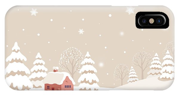 Peace iPhone Case - Winter Landscape With Rabbit by Soyon