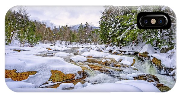 Winter On The Swift River. IPhone Case