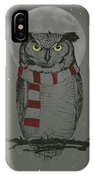 Winter iPhone Case - Winter Owl by Balazs Solti