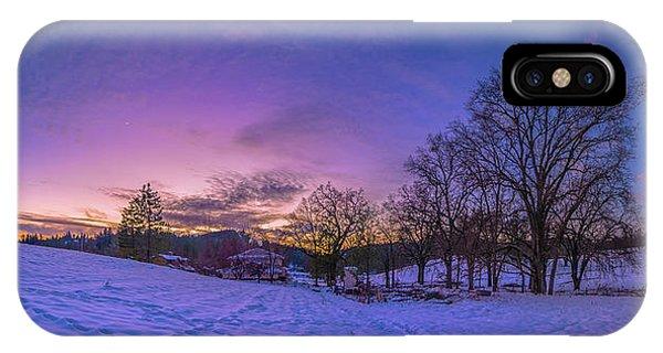Winter Panorama IPhone Case
