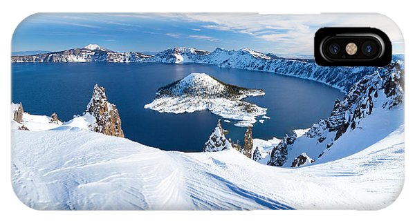 Clear iPhone Case - Winter Scene At Crater Lake Volcano by Matthew Connolly