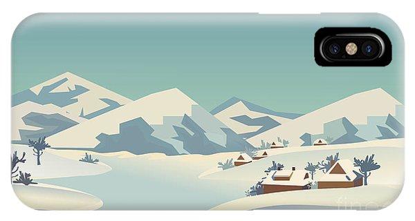 Ice iPhone Case - Winter Season Nature Landscape by Lana samcorp