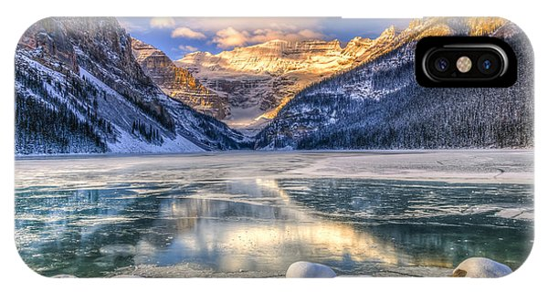 Banff iPhone Case - Winter Sunrise Over Scenic Lake Louse by Bgsmith