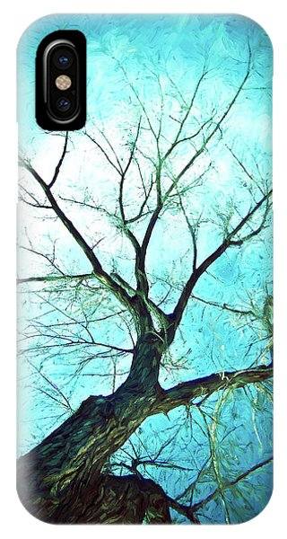 IPhone Case featuring the photograph Winter Tree Blue  by James BO Insogna