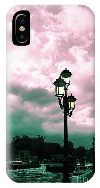 Winter Venice Lantern On The Embankment IPhone Case