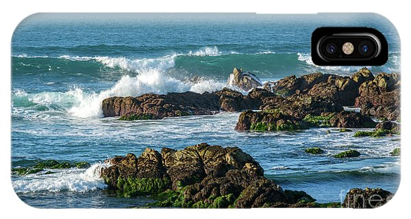 Winter Waves Hit Ancient Rocks No. 1 IPhone Case