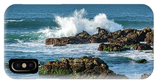 Winter Waves Hit Ancient Rocks No. 2 IPhone Case