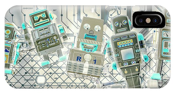 Robot iPhone Case - Wired Intelligence by Jorgo Photography - Wall Art Gallery