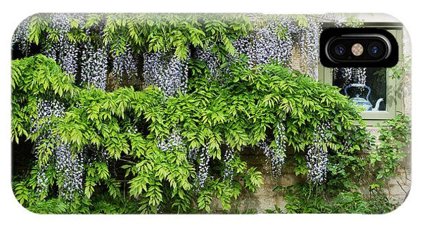 Wisteria On A Cotswold Stone House Phone Case by Tim Gainey