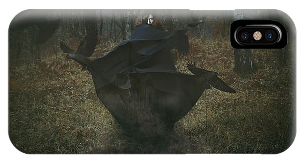 Young iPhone Case - Witch Of The Forest With Her Crows by Captblack76