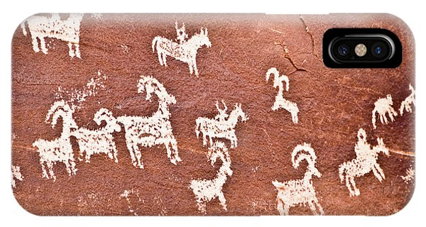 Us National Parks iPhone Case - Wolfe Ranch Petroglyphs by Delphimages Photo Creations