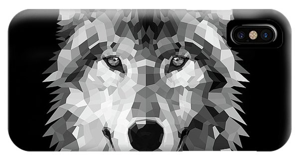 Lynx iPhone Case - Wolf's Face by Naxart Studio