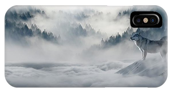 Wolfs In The Snow IPhone Case