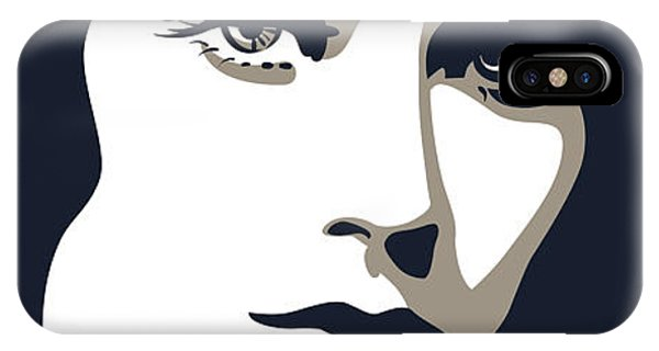 Shadow iPhone Case - Woman Face With Beautiful Eyes, Vector by Essl