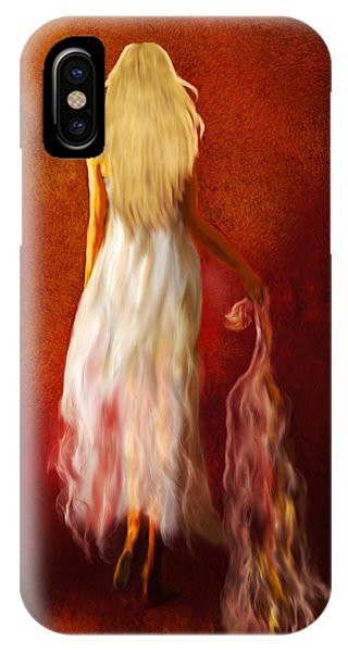 Woman In White IPhone Case
