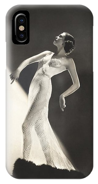 Adult iPhone Case - Woman Wearing Sheer Evening Gown by Everett Collection