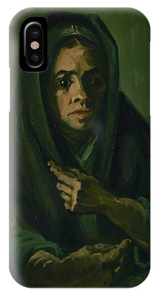Van Gogh Museum iPhone Case - Woman With A Mourning Shawl by Vincent Van Gogh