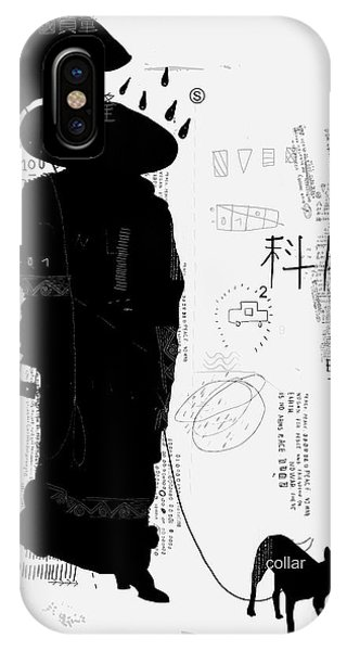 One iPhone Case - Woman With Dog Translation Chinese by Dmitriip