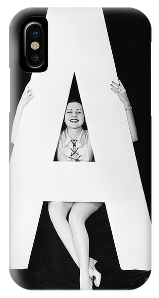 Woman With Huge Letter A Phone Case by Everett Collection