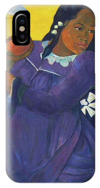 Mango iPhone Case - Woman With Mango - Digital Remastered Edition by Paul Gauguin
