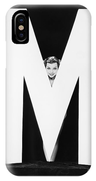 Womans Face With Huge Letter M Phone Case by Everett Collection