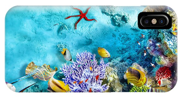 Under Water iPhone Case - Wonderful And Beautiful Underwater by V e