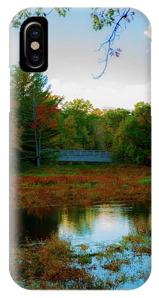 Wood Bridge In The Fall IPhone Case