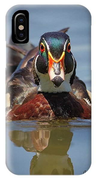 Wood Duck Face First IPhone Case