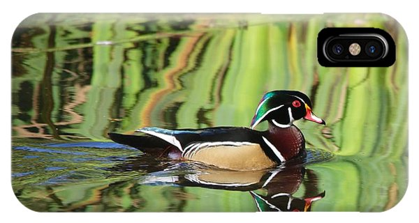 Wood Duck Reflection 2 IPhone Case