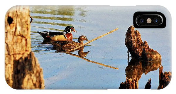 IPhone Case featuring the photograph Wood Ducks by Debbie Stahre