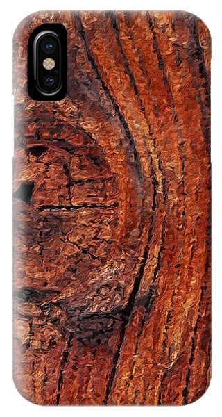 IPhone Case featuring the digital art Wood Knot by ISAW Company