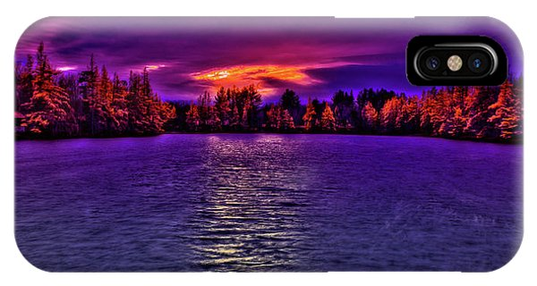 iPhone Case - Woodcraft Camp Sunset by David Patterson