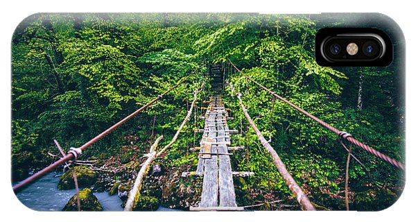 Trip iPhone Case - Wooden Bridge Old Over River Beautiful by Everst