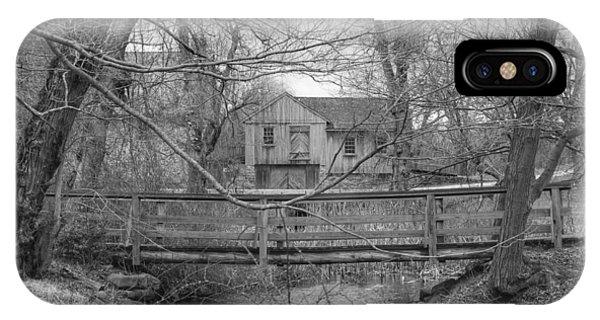 Wooden Bridge Over Stream - Waterloo Village IPhone Case