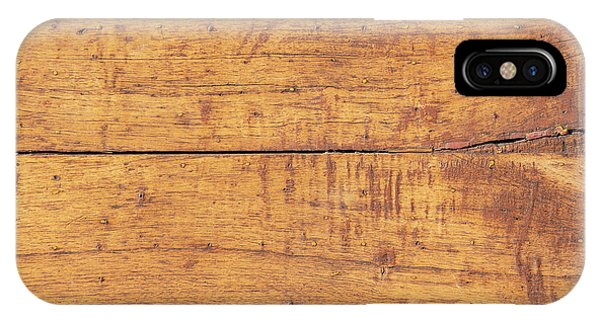 IPhone Case featuring the photograph Wooden Table Background by Tim Hester