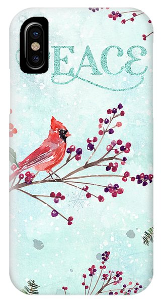 Woodland Holiday Peace Art IPhone Case