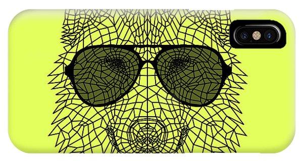 Lynx iPhone Case - Woolf In Black Glasses by Naxart Studio