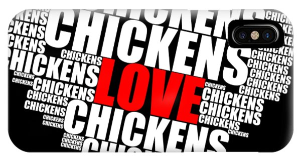Word Cloud White Love Chickens IPhone Case
