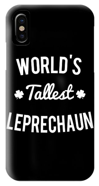 St. Patricks Day iPhone Case - Worlds Tallest Leprechaun by Flippin Sweet Gear
