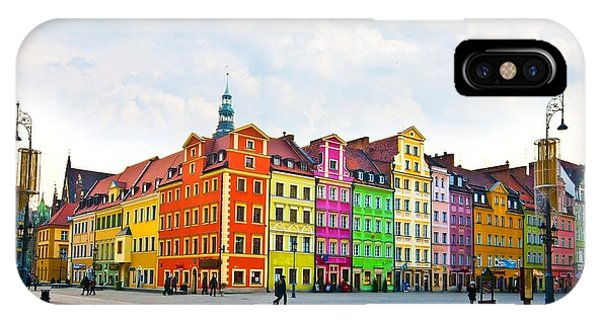 Old Building iPhone Case - Wroclaw City Center, Market Square by Pablo77