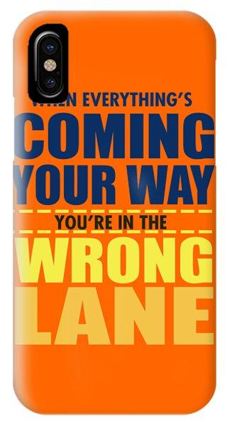 Wrong Lane IPhone Case