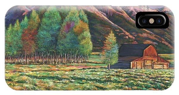 Teton iPhone Case - Wyoming by Johnathan Harris