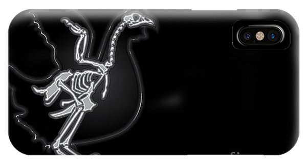 Spines iPhone Case - X-ray Vector Chicken by Anton novik